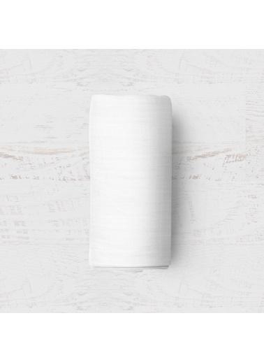 Maki Beyaz 180x200 Battal Boy Lastikli Çarşaf Takımı Beyaz